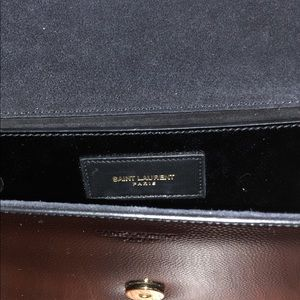 YSL bo pochie clutch black/gold
